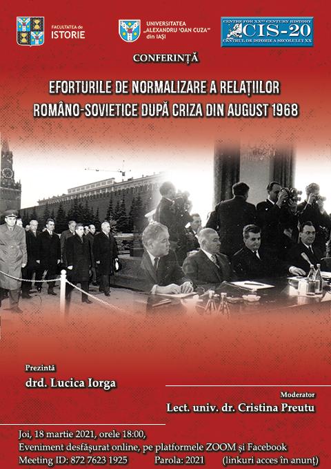 Conferință: Eforturile de normalizare a relațiilor româno-sovietice după criza din august 1968